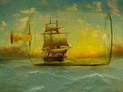Once In A Bottle Art Print by Jeff Burgess