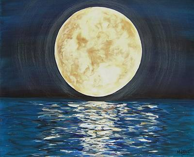 Once In A Very Blue Moon Art Print