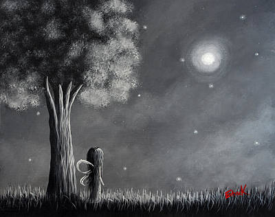 Once Upon A Dreamy Night Original Fairy Art Art Print