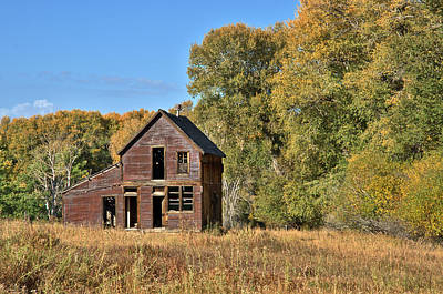 Photograph - Once Upon A Home Autumn by Eric Rundle