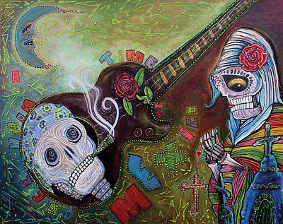 Virgin Guadalupe Wall Art - Painting - Once Upon A Time In Mexico by Laura Barbosa