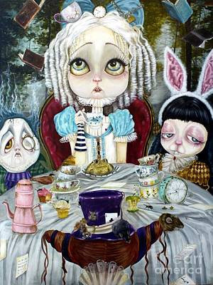 Mad Hatter Painting - Once Upon A Time by Leticia Frankio