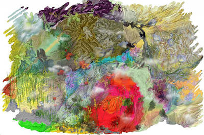 Abstract Realist Landscape Digital Art - Once Upon A Time by Richard CHESTER