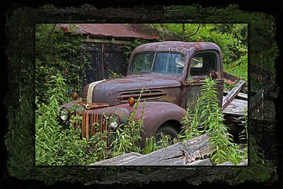 Photograph - Once Upon A Time - Rusty Ford Pickup Truck by John Stephens