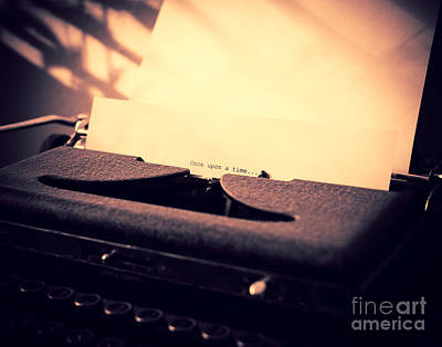 Typewriter Photograph - Once Upon A Time by Sonja Quintero