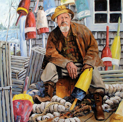 Cape Cod Painting - Once Upon A Time We Were Mariners by Richard T Pranke