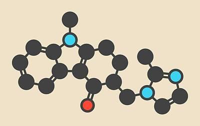Schizophrenia Photograph - Ondansetron Drug Molecule by Molekuul