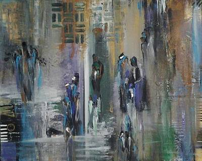 Painting - Impressionist Gathering by Kelly Turner