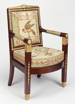 One Armchair Frames Attributed To François-honoré-georges Print by Litz Collection