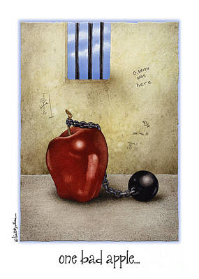 Inmate Painting - One Bad Apple... by Will Bullas