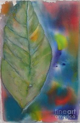 Painting - One Big Leaf by Laura Hamill