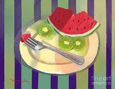 One Bite Of Watermelon Art Print
