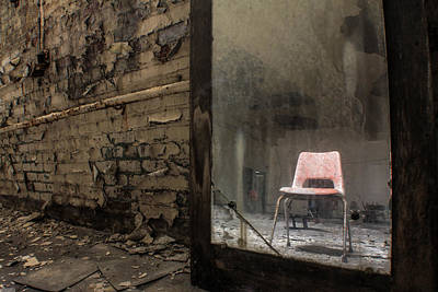 Detroit Abandoned Buildings Photograph - One Chair  by John McGraw