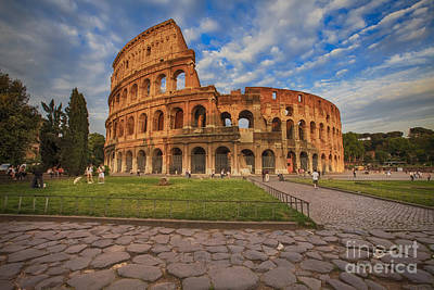 Colliseum Photograph - One Day In Rome by Maria Feklistova