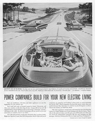 Super Cars Drawing - 'one Day Your Car May Speed  Along An by Mary Evans Picture Library