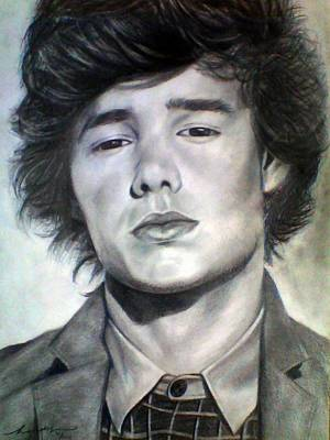 Hand Made Drawing - One Direction Liam Payne by Murni Ch
