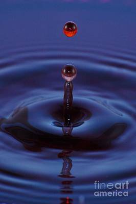 Art Print featuring the photograph One Drop One Splash by Patrick Shupert