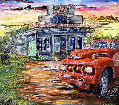 One Evening In East Texas Art Print by Terry Campbell