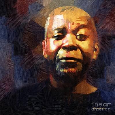 African-american Digital Art - One Eye In The Mirror by RC deWinter