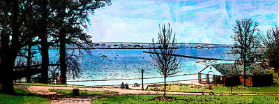 Lakeview Painting - One Fine Day by Robin Mead