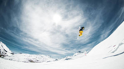 Skiing Action Photograph - One Fine Method Grab... by Eric Verbiest