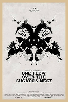 Jack Nicholson Digital Art - One Flew Over The Cuckoos Nest Alternative Poster by Edgar Ascensao