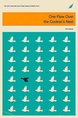 One Flew Over The Cuckoos Nest Art Print by Jazzberry Blue