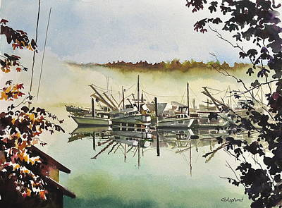 Gig Harbor Foggy Morning View Art Print