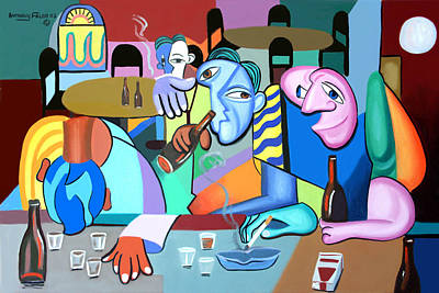 Beer Paintings - One For The Road by Anthony Falbo