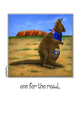 Kangaroo Painting - One For The Road... by Will Bullas