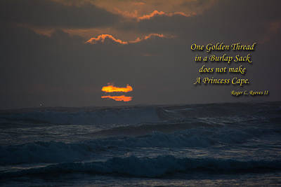 Photograph - One Golden Thread by Tikvah's Hope