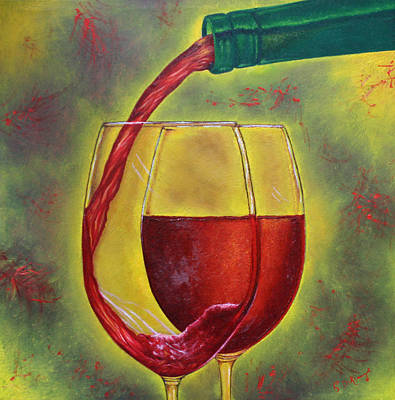 Wall Art - Painting - One Good Pour Deserves Another by Stephen J DiRienzo