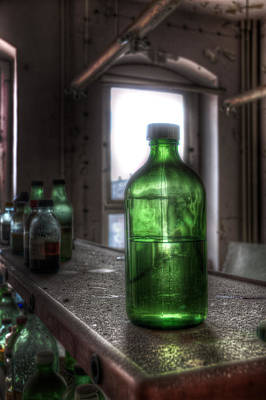 Digital Art - One Green Bottle by Nathan Wright