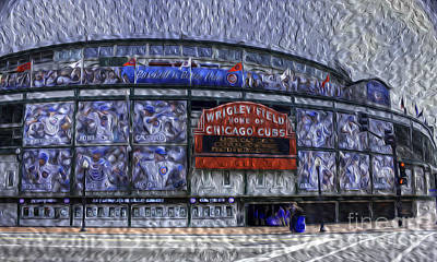 Photograph - One Hundred Years At Wrigley by David Bearden