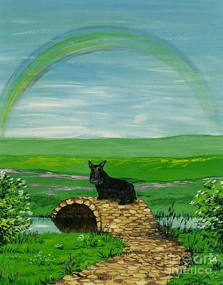 Scotty Painting - One Last Look by Margaryta Yermolayeva