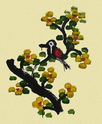 Thai Artist Artists Painting - One Lonely Bird by Colin Smeaton