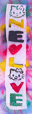 Music Paintings - One Love Kitty 3 by Tony B Conscious