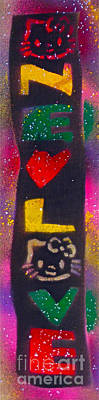 Music Paintings - One Love Kitty 4 by Tony B Conscious