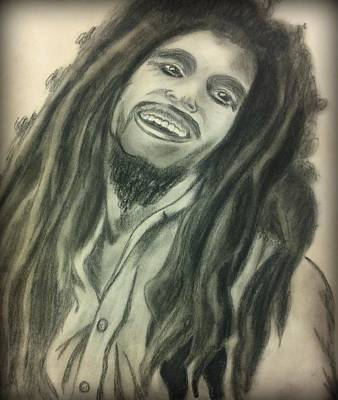 Rasta Drawing - One Love by Leighann Taylor