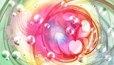Digital Art - One Love... One Heart... One Life by Peggy Hughes