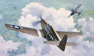 Spitfire Painting - One Man Air Force by Wade Meyers