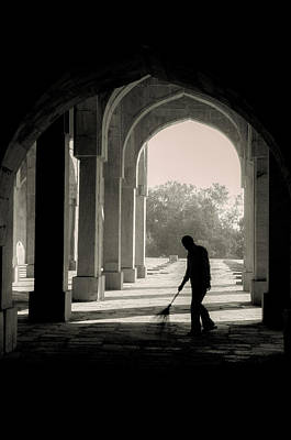 Photograph - One Man Sweeps by Valerie Rosen