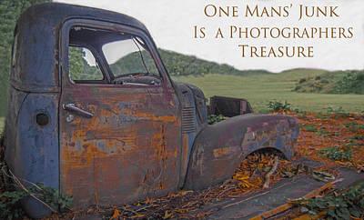 One Mans' Junk Art Print by Marion Johnson