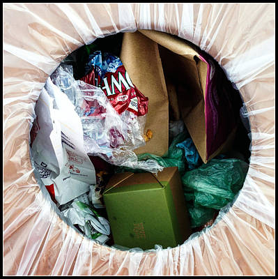 One Man's Trash Art Print by Marlene Burns