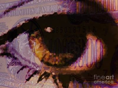One Million / Purple Art Print by Elizabeth McTaggart