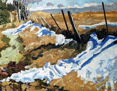 Snow Melt Painting - One More Drift by Phil Chadwick