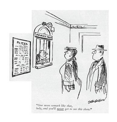 One More Remark Like That Art Print by James Stevenson
