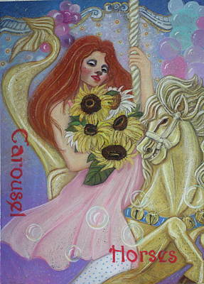 Painting - One More Ride On The Merry-go-round by Pamela Mccabe