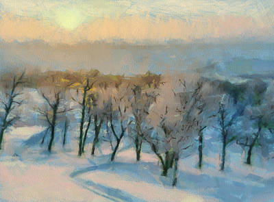 Digital Art - One More Winter Sunset by Yury Malkov