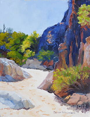 One Morning At Honey Bee Canyon Art Print by Susan Woodward